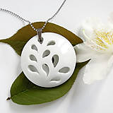 Náhrdelníky - White Flower  - 9498977_