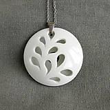 Náhrdelníky - White Flower - 9498980_