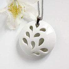 Náhrdelníky - White Flower - 9498978_