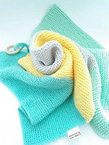 Úžitkový textil - Pletená deka Rebeka (farebná) - 9498984_