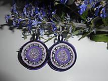 Náušnice - Velúrovky fialové - 9496194_