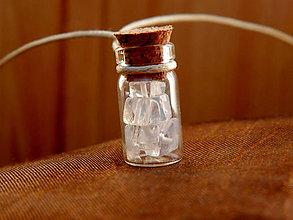 Náhrdelníky - Mesačný kameň (opalit) - náhrdelník - 9496167_
