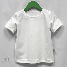 Detské oblečenie - Biele tričko s krátkym rukávom - 9497652_