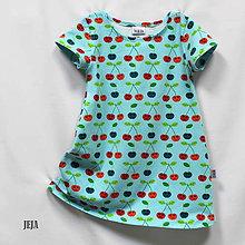 Detské oblečenie - Čerešničkové šaty - 9498089_