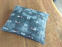 Úžitkový textil - Čierny batikovaný vankúš - 9498212_