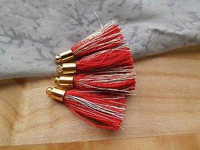 Polotovary - Malé strapčeky s hlavičkou - pár (Červená) - 9496453_