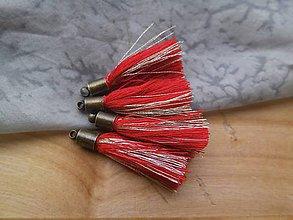 Polotovary - Malé strapčeky s hlavičkou - pár (Červená) - 9496454_