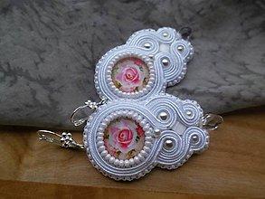 Náušnice - Svadobné náušnice s ružičkami - 9496552_