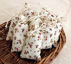 Darčeky pre svadobčanov - FILKI vrecúško s levanduľou  (veľkosť 10x6 cm) - 9495225_