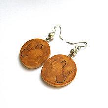 Náušnice - Špaltovaná breza - z halúzky - 9495346_