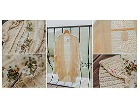 Svetre/Pulóvre - Romantic cardigan-100% bavlna - 9499796_