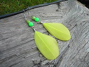 Náušnice - Náušnice Pierkové NEON zelené - 9502521_