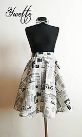 YWETTE: kúsok novín na mojej sukni
