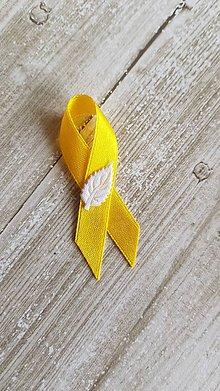 Pierka - pierka s lístočkom rôzne farby (žlté) - 9502174_