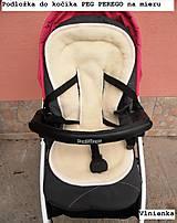 Textil - MERINO podložka do kočíka BUGABOO Bee / Buffalo/ Cameleon/ Donkey/ Joolz 100% WOOL Seat Liner Blue and Grey - 9500216_