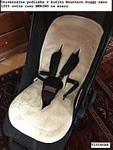 Textil - MERINO podložka do kočíka BUGABOO Bee / Buffalo/ Cameleon/ Donkey/ Joolz 100% WOOL Seat Liner Blue and Grey - 9500223_