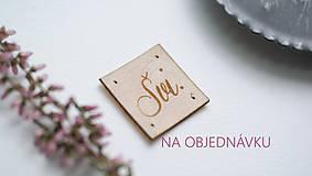 - Koženkové štítky a pečiatka na objednávku - 9500609_