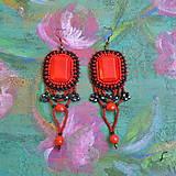 Náušnice - Flamenco earrings - 9501268_