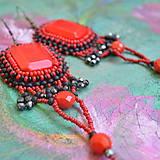 Náušnice - Flamenco earrings - 9501269_