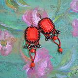 Náušnice - Flamenco earrings - 9501270_