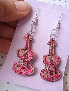 Náušnice - Náušničky violy (Ružová) - 9499648_