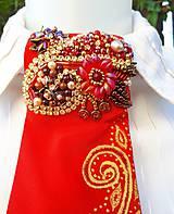 Iné doplnky - Madam Red-hodvábna maľovaná a vyšívaná dámska kravata - 9503041_