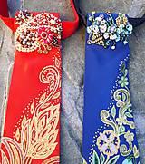 Iné doplnky - Madam Red-hodvábna maľovaná a vyšívaná dámska kravata - 9503052_