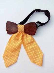 Iné doplnky - Dámsky drevený motýlik - 9502175_