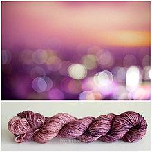 Galantéria - BLURRED MORNING - ručne farbená priadza hodváb/alpaka 30/70 - 9501416_