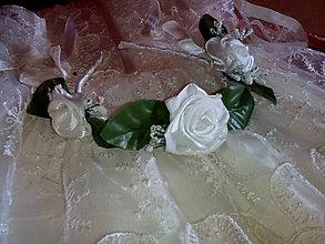 Detské doplnky - kvetinová čelenka na prvé sväté prijímanie - 9499967_