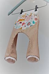 """Detské oblečenie - Plátené nohavice """"snívajúca líška"""" - 9499677_"""