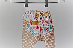 """Detské oblečenie - Plátené nohavice """"snívajúca líška"""" - 9499678_"""