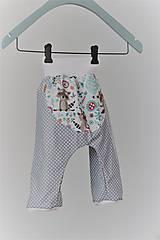 "Detské oblečenie - Plátené nohavice ""medvedík čistotný"" - 9499691_"