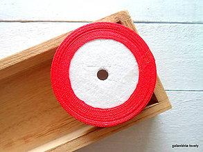 Galantéria - stuha saténová 6mm červená - 9500784_