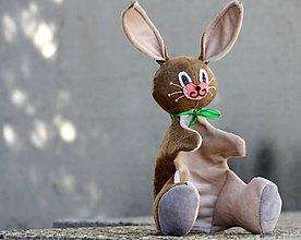 Hračky - Maňuška. Zvieratko zajačik Ušiačik - 9502414_