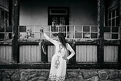 Šaty - Biele vyšívané šaty Slavianka - 9502201_
