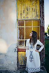 Šaty - Biele vyšívané šaty Slavianka - 9502203_