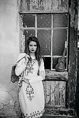 Šaty - Biele vyšívané šaty Slavianka - 9502304_