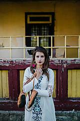 Šaty - Biele vyšívané šaty Slavianka - 9502321_