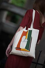 Nákupné tašky - Ručne maľovaná taška Kaktus - 9502096_