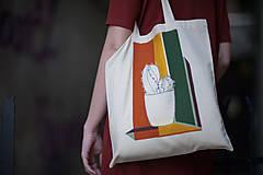 Nákupné tašky - Ručne maľovaná taška Kaktus - 9502098_