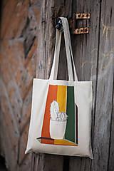 Nákupné tašky - Ručne maľovaná taška Kaktus - 9502106_