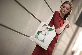 Nákupné tašky - Ručne maľovaná taška Kaktusovec - 9501797_