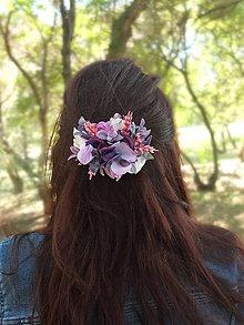 Ozdoby do vlasov - fialový poklad - 9500533_