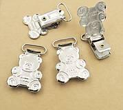 Galantéria - KL115 Klip kovový macko 4 x 2,5 cm - 9500458_
