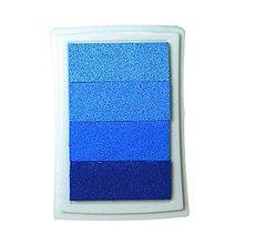 Farby-laky - PP104 Poduška pod pečiatky (Modrá) - 9500412_