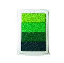 Farby-laky - PP104 Poduška pod pečiatky (Zelená) - 9500418_