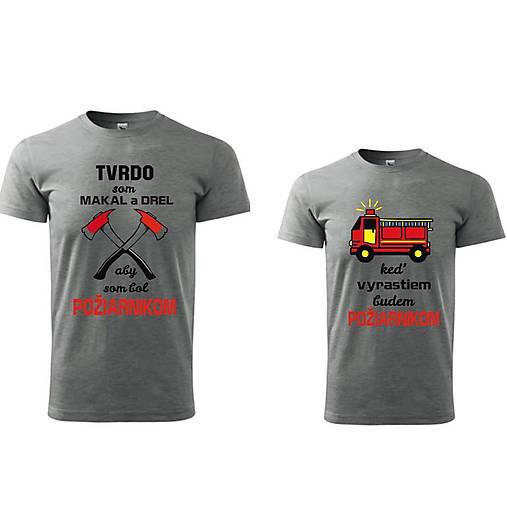 Požiarnická hasičská sada tričiek pre otca a syna   ele-ele - SAShE ... 409baddee4
