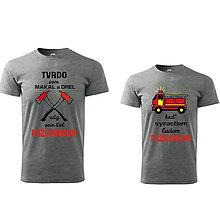 Tričká - Požiarnická/hasičská sada tričiek pre otca a syna - 9499021_