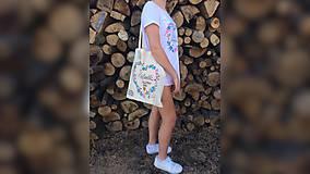 Nákupné tašky - ♥ Plátená, ručne maľovaná taška ♥ (MI27) - 9502947_